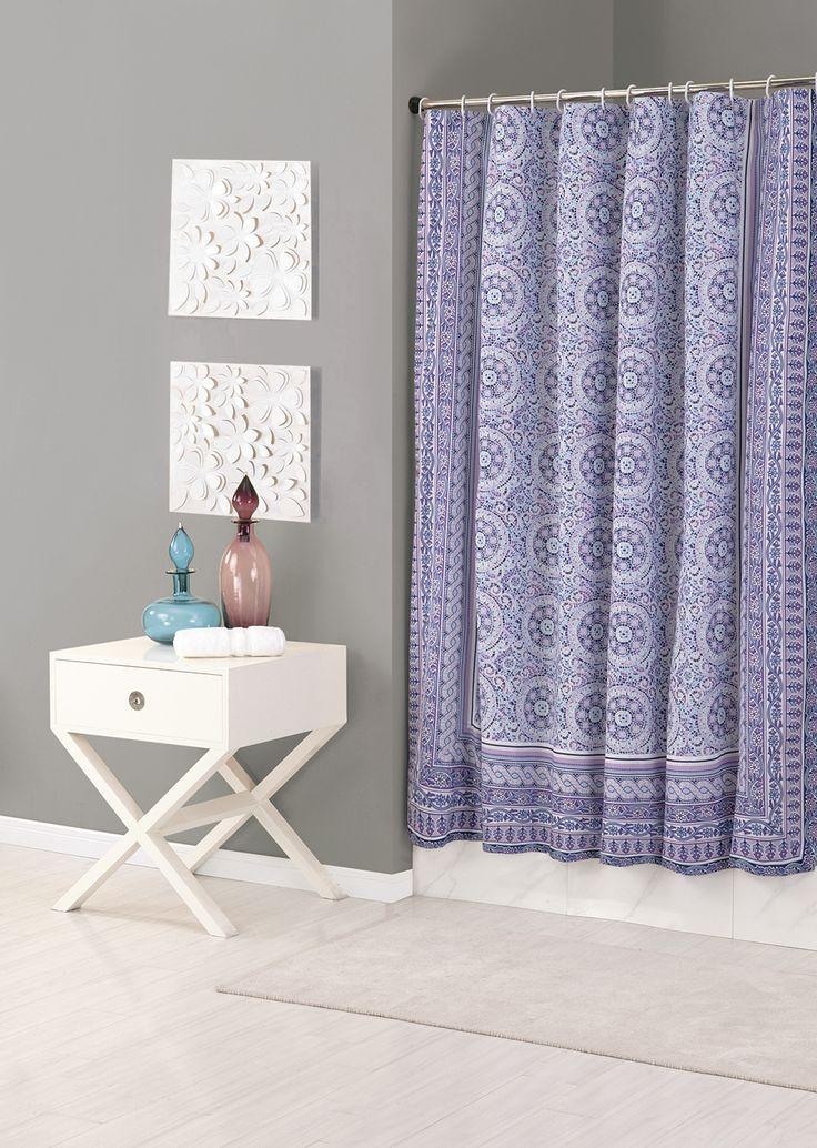 Jessica Simpson Mosaic Shower Curtain #aprilshowers