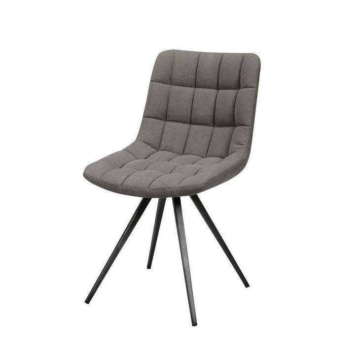 Elegant Design Stuhl In Anthrazit Jeans Stoff Stahl (2er Set) Jetzt Bestellen  Unter: Https