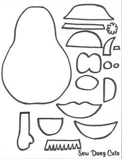 mrs potato head coloring pages printables | Sew Dang Cute Crafts: Felt Mr. Potato Head