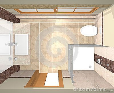 Three dimensional plan from renovated bathrooms