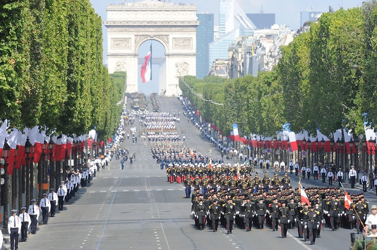 bastille day paris parade route