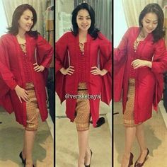 Kebaya Kimono.. Would be so cute if I could only separate it from my graduation gown.. Color is exactly the same... !!