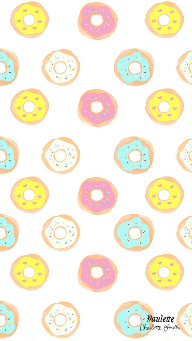 Rainbow Donut Pattern iPhone Wallpaper @PanPins