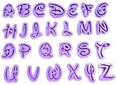 Top cake - Emporte-pièces Alphabet Disney