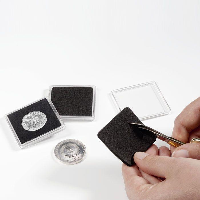 Οργάνωση & Συντήρηση των Νομισμάτων σας Τετράγωνες κάψουλες νομισμάτων QUADRUM με διάμετρο 15-41 mm
