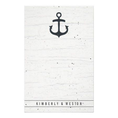 Rustic Nautical Wedding Stationery Note Paper - tap to personalize and get yours #illustrations #illustration #gift #gifts #giftideas #giftforher #editable #paper #papergoods