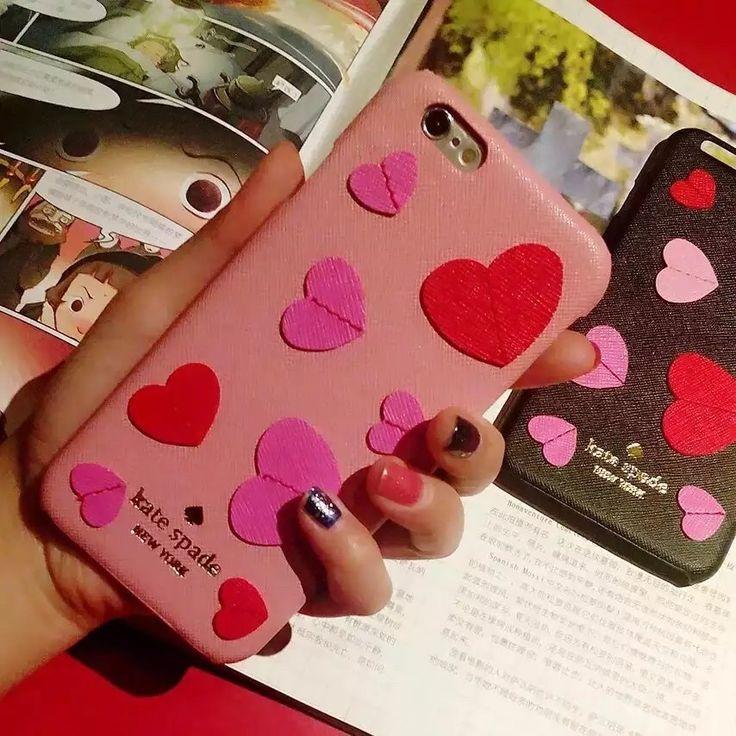 あい ほん 8/7s/6s カバーkate spadeハート柄革製レザーiPhone6plusケース少女乙女アイフォン7plus/7/6s携帯可愛いピンク粉ケイト・スペード人気ブランド