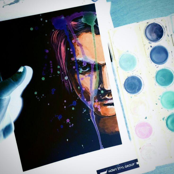 Gerard Way watercolor fanart