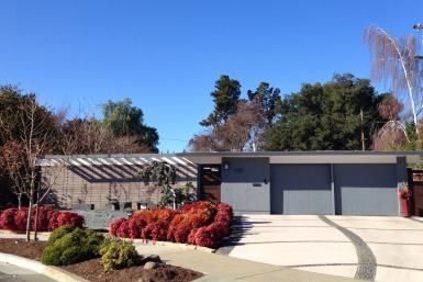 Joseph Eichler Made the West Coast Modern: Post WWII Mid-Century modern architecture by real estate developer Joseph Eichler in tract home development in Sunnyvale, California