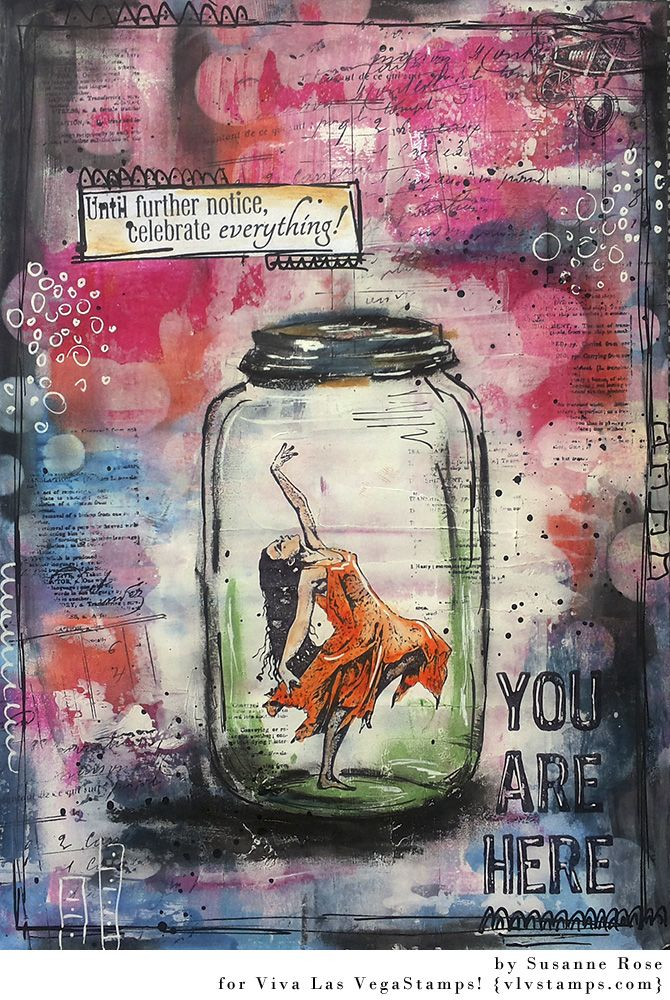 Art Journal Page with Viva Las Vegastampsenchantingly