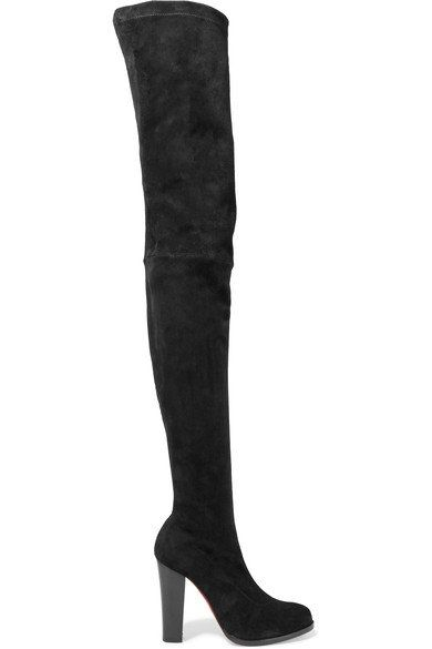 c529bcc3cc CHRISTIAN LOUBOUTIN Fabulous Verusch 100 suede over-the-knee boots ...