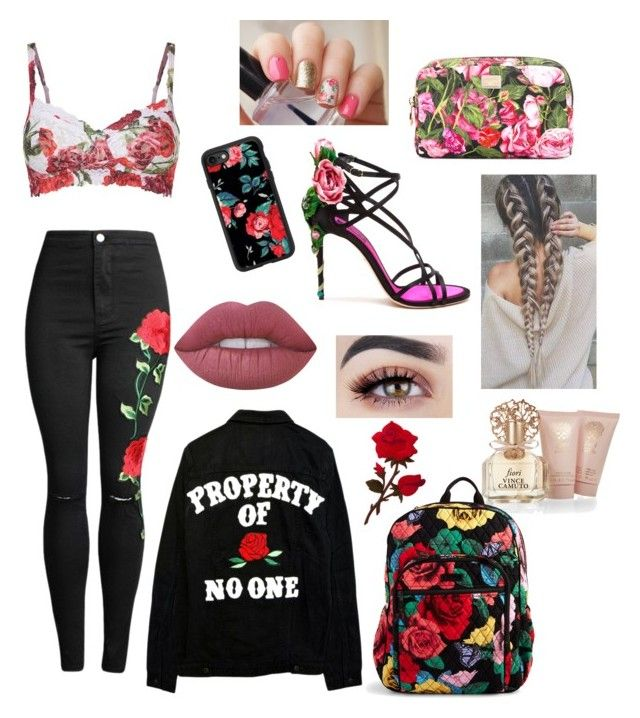 """""""Untitled #18"""" by nevaeh-sushi on Polyvore featuring Casetify, Hanky Panky, Dolce&Gabbana, Vince Camuto, Vera Bradley and Lime Crime"""