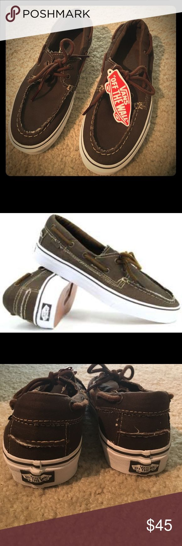 Vans Zapato Del Barco Men's 7.5 BRAND NEW with Tags. Never been worn. (No box) Vans Shoes Boat Shoes