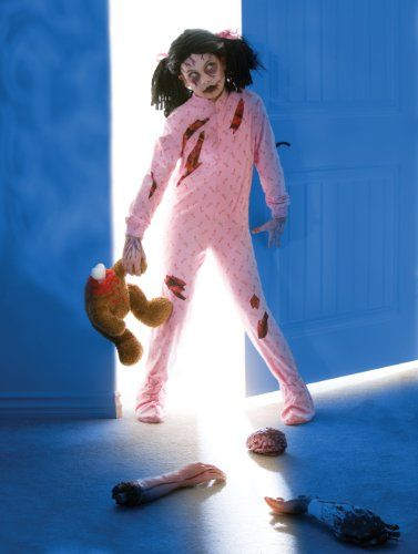 Zombie Girl Child/Tween Costume Size Medium (7-10) - Click image twice for more info - See a larger selection of kids halloween costume at http://costumeriver.com/product-category/kids-halloween-costumes/ -  holiday costume , event costume , halloween costume, cosplay costume, classic costume, scary costume, super heroes costume, classic costume, clothing