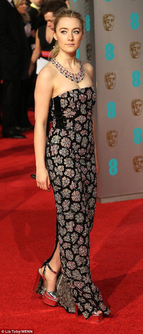 Stars on the rise: BAFTA nominees Alicia Vikander (left) and Saoirse Ronan (left) gave it ...