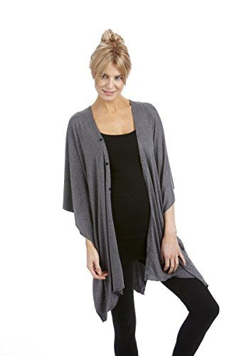 Style 101's Soft Comfortable 8 Button Belted Shawl Wrap (...