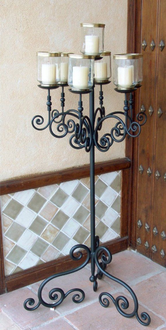 Moroccan Candle Holder Wrought Iron Antique Chandelier Rustic