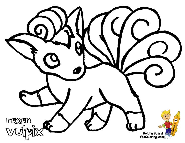 pokemon coloring pages vulpix