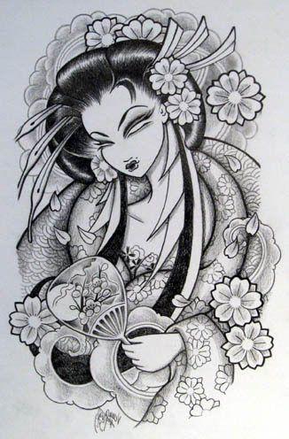 geisha+pin+up+tattoo+designs | Japanese Tattoos Especially Geisha Tattoo Designs Gallery Picture 2