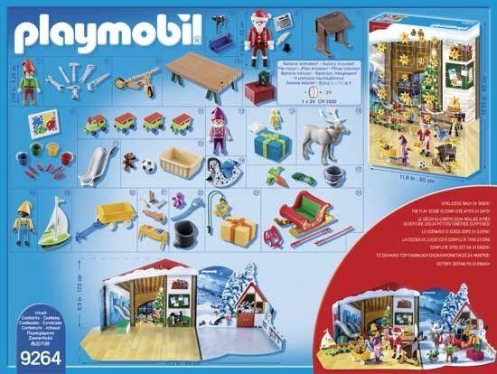 Playmobil: Calendrier de l'Avent Fabrique du Père Noël - Castello | Jeux et Jouets