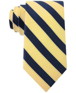 Club Room Men's Sail Stripe Classic Tie, Only at Macy's - Yellow