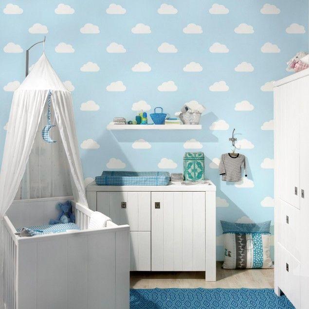 Marvelous Kinderzimmer Tapeten Vliestapeten Premium No YK Wolken Hellblau Fototapete Quadrat