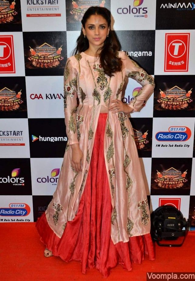Aditi Rao Hydari in a Saaksi And Kinni dress on the red carpet