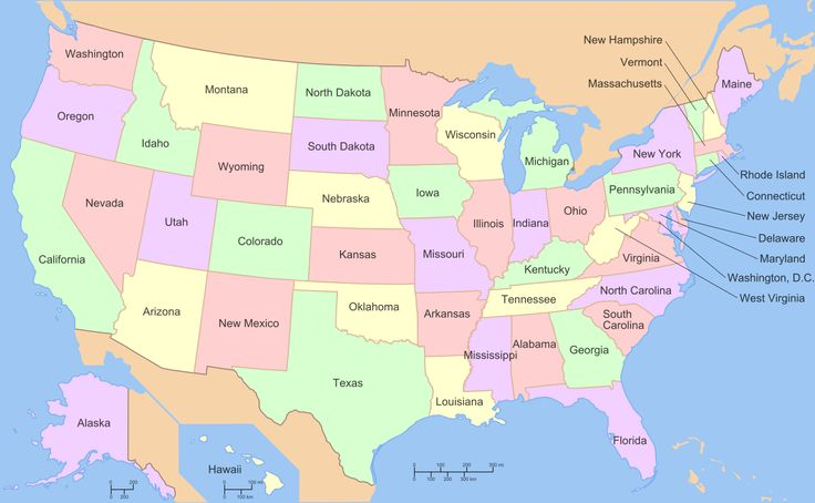 Map of USA with state names 2.svg
