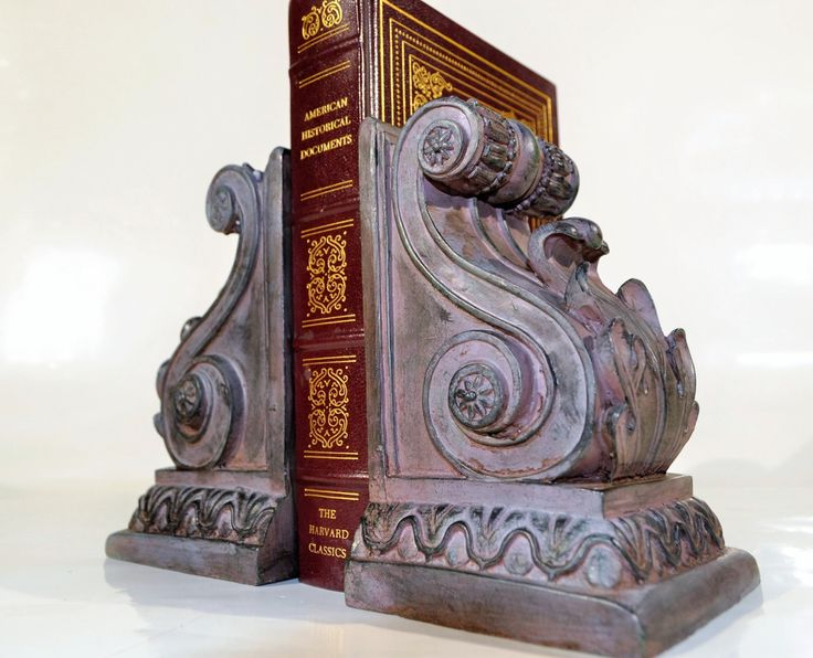 Victorian bookends/ office decor / library decor/ traditional home deco /shabby Home and Living,Home Decor Bookends/Burgundy black bookends by decor4home2 on Etsy