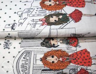 ÚPLET BORDÚRA - ladies in red