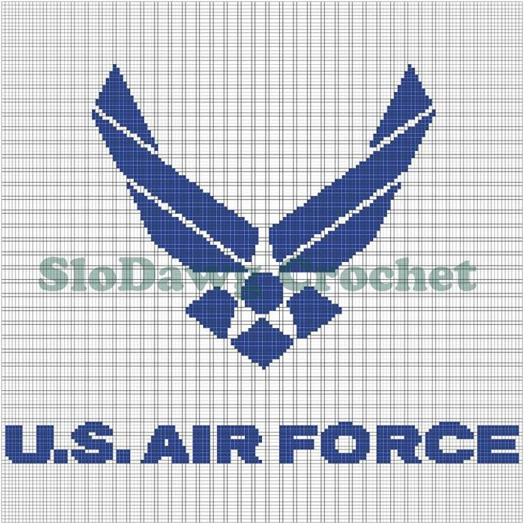 Us Air Force Crochet Graph Pattern Pattern On Craftsy Com