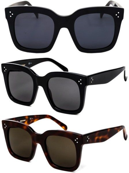40f9f5545081 Céline CL 41076 Tilda Oversized Square Sunglasses in black and havana  tortoise