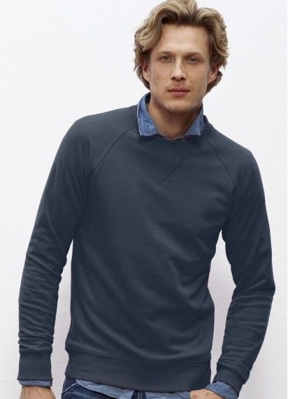 Joe men's classic #crewneck #jumper in India Ink Grey. This old fella is #fairtrade and made from 85% #organiccotton! Made in Bangladesh/Pakistan.