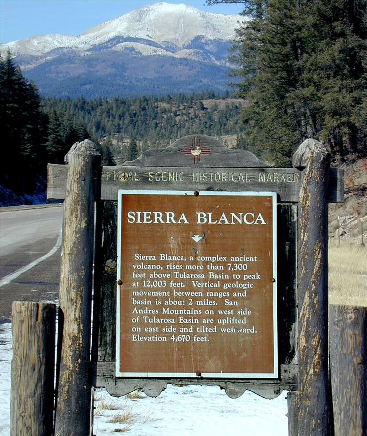 View of the Sierra Blanca's from the southwest of town...