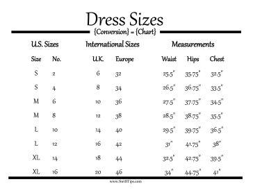 Fillable Clothing Measurement Chart Men