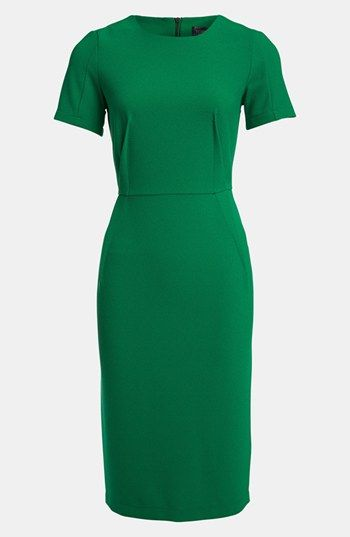 Dress is up with a funky belt or jewelry maybe??  Topshop Elfin Midi Pencil Dress available at #Nordstrom