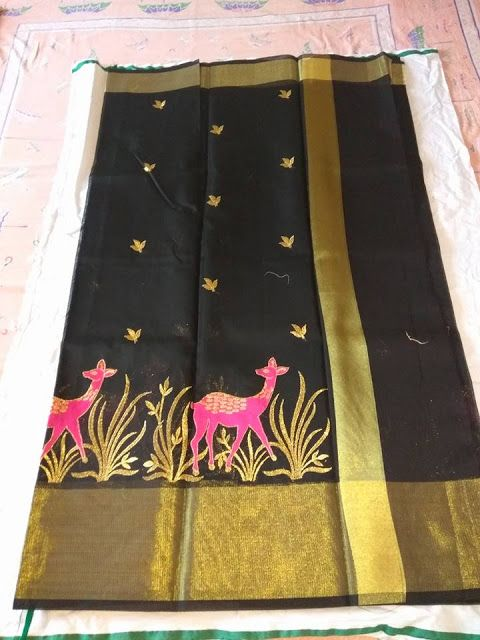 Kota sarees with beautiful embroidery Work | Buy Online Sarees | Elegant Fashion Wear
