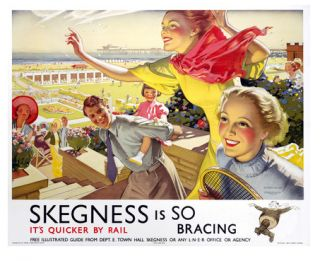 Skegness Reproduction Vintage Travel Print