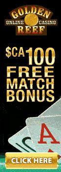 Golden Reef Casino Free Match Bonus
