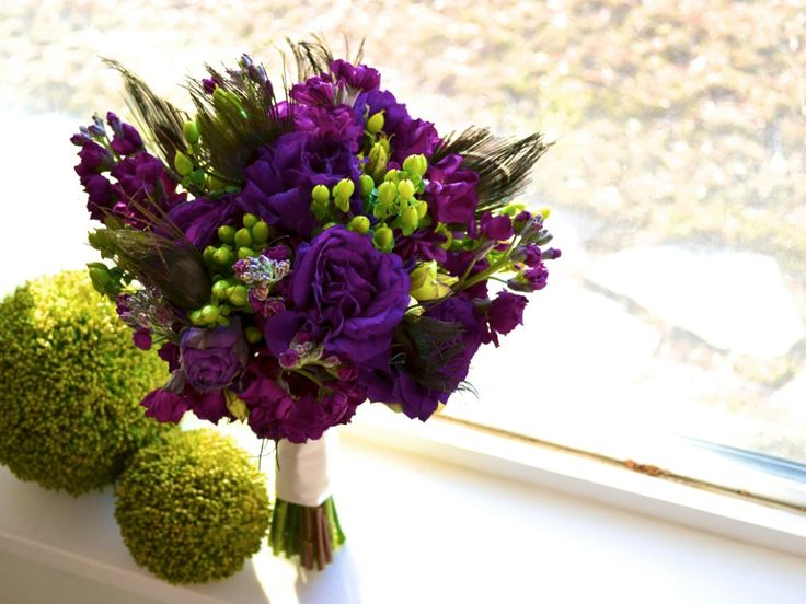 purple green teal peacock bridal bouquet.  I think this is the one! Exactly what I was looking for.  :)