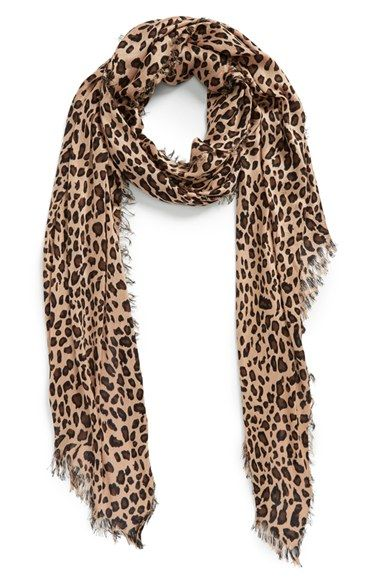 Free shipping and returns on Sole Society Leopard Print Scarf at Nordstrom.com. Follow your natural instincts and throw on a leopard print scarf to add wild glamour to your look. This supersoft, lightweight style is finished with feathery fringe.
