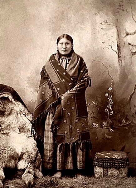 A much older Standing Holy who was according to some, Sitting Bull's favourite daughter.