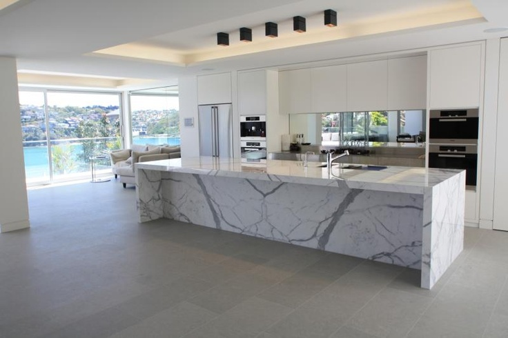 Floor Tiles Calacatta Marble Bench Supplied By Sareen Stone