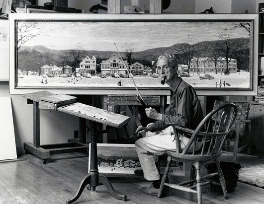 Norman Rockwell paints a Christmas Town