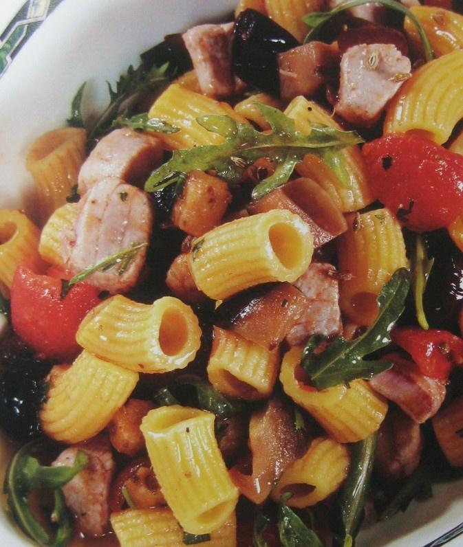 maccheroni di pasta fresca con dadini di ventresca di tonno alla siciliana/Macaroni pasta with diced tuna Sicilian style Chef Claudio Sadler