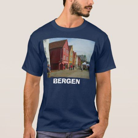 Norway, Bergen, traditional painted buildings T-Shirt - tap, personalize, buy right now!