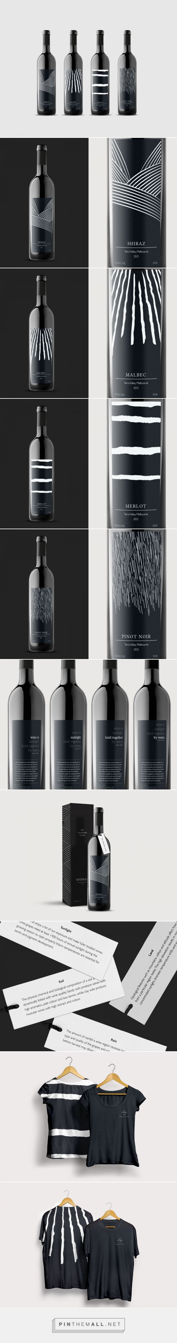 Land, Sunlight, Soil and Rain on The Elements Series wine label - student concept design by Dana Mevorach - http://www.packagingoftheworld.com/2017/04/the-elements-series-student-project.html