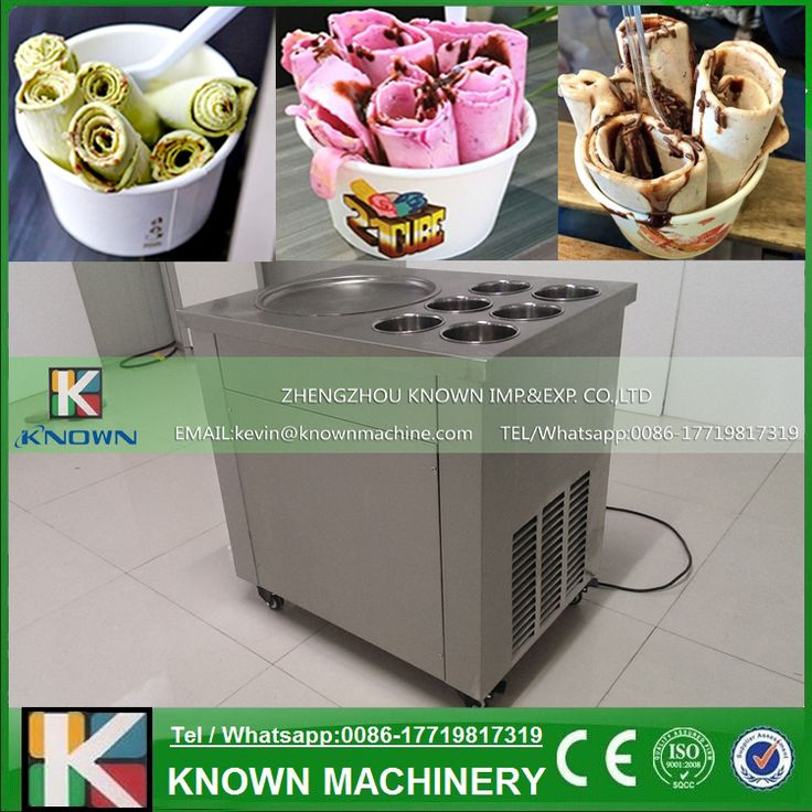 Full food grade of stainless steel One Pan Fried ice cream roll machine, yoghourt fried ice cream machine //Price: $US $748.00 & FREE Shipping //     #clknetwork