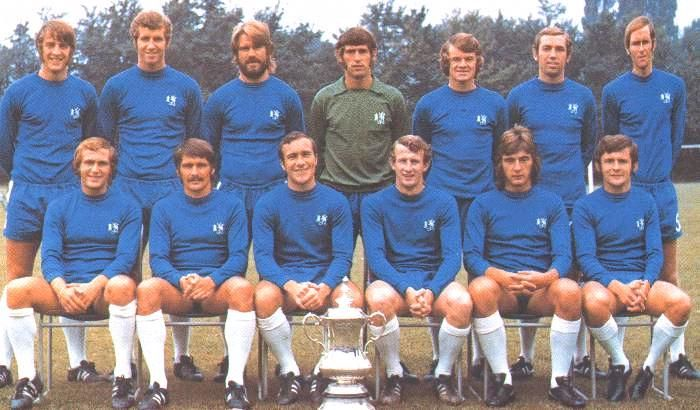 The 1970 FA Cup wining squad. This includes Alan Hudson who didn't play in the final due to injury and Marvin Hinton (sub).
