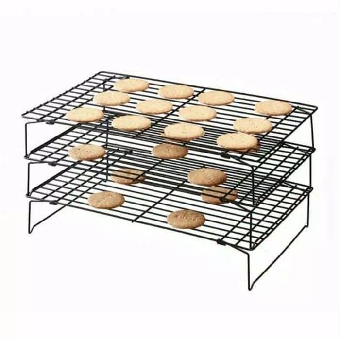 Rak Pendingin Kue Dan Cake Tingkat 3 Susun Cooling Rack Good